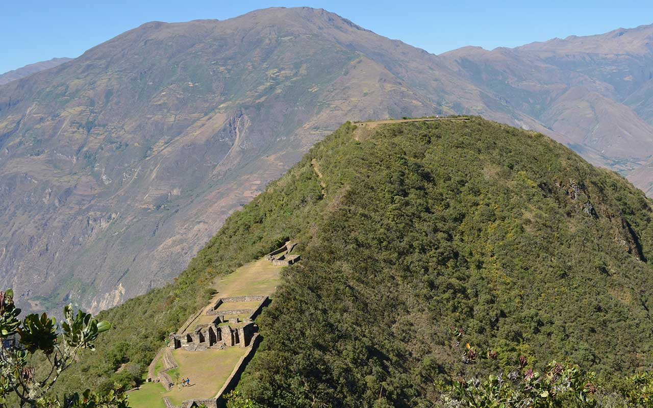 Choquequirao Trek 4 days - View of Arqueological Complex
