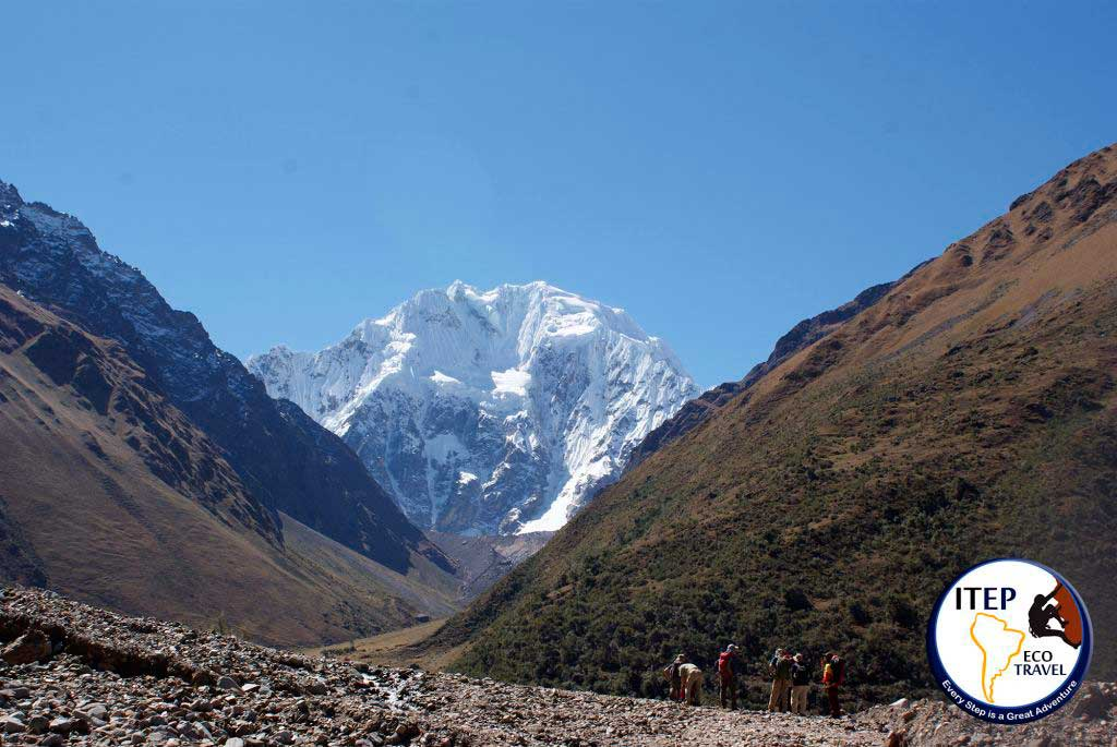 View of Salkantay Mountain from Soraypampa - Classic Salkantay Trek to Machu Picchu in 5 days