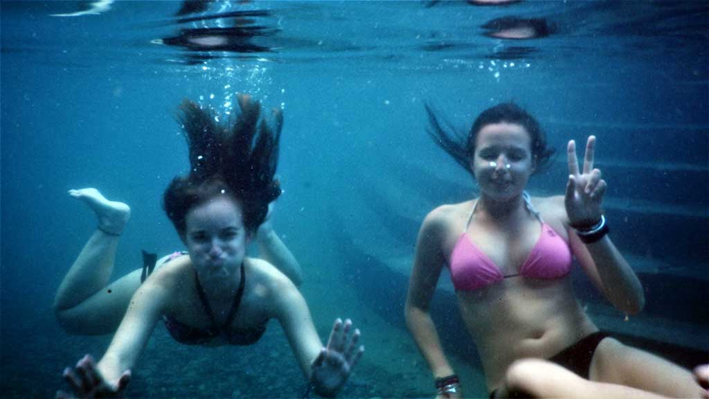 Under water on Hot springs of Cocalmayo