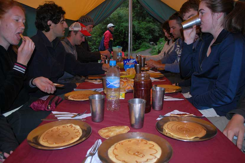Our breakfast on Salkantay Trek