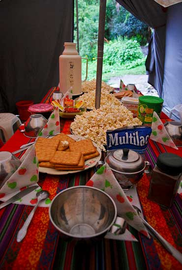 Our teatime sessions on Salkantay Trek