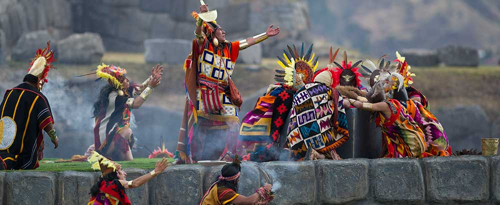 Ceremony of Inti Raymi in Saqsayhuaman