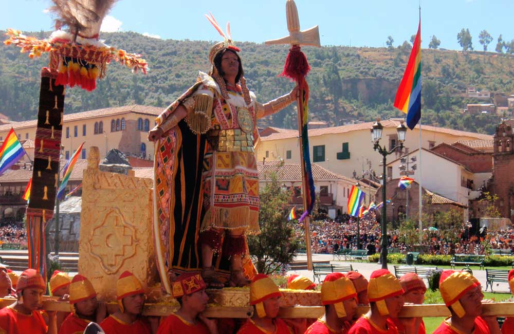 Ceremony of Inti Raymi on Main Square of Cusco