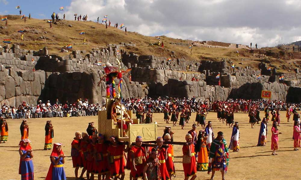 Ceremony of Inti Raymi on Saqsayhuaman Fortress
