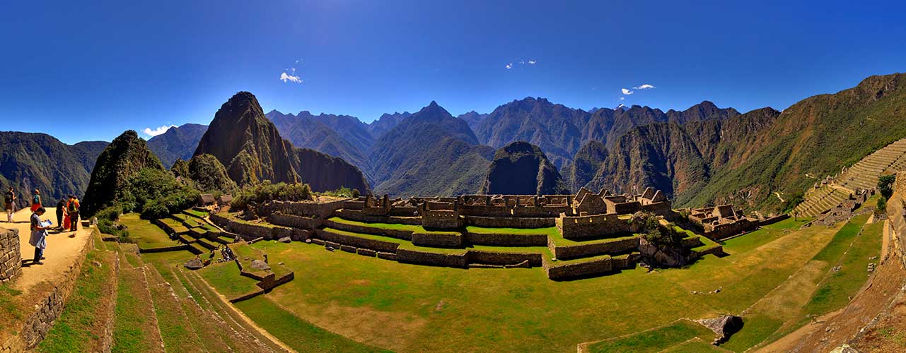 View panoramic of Machu Picchu